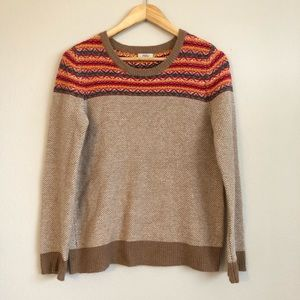 madewell Wallace fair Isle wool blend sweater S